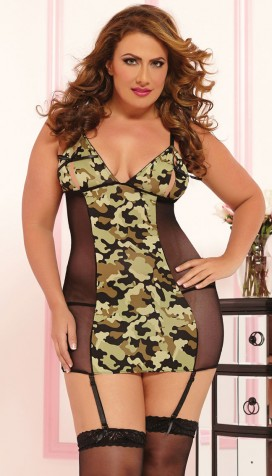 """Commander in Chic Chemise Set"""