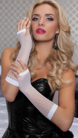 Elbow Length Fishnet Gloves