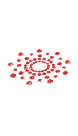 Rheinstone Nipples For Breasts - Red