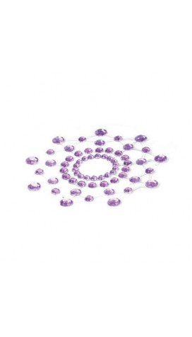 Rheinstone Nipples For Breasts - Purple