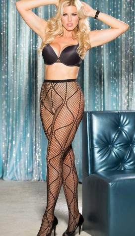 SWIRLY FISHNET PANTYHOSE