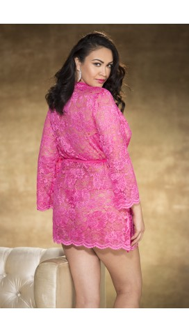 ALL OVER STRETCH LACE ROBE