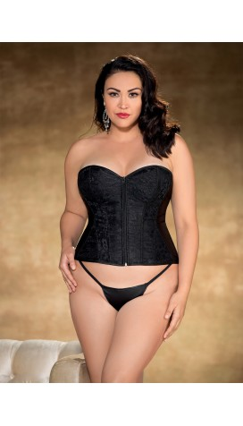 Lace and Satin Overlay CORSET