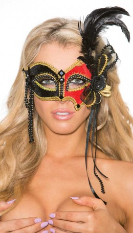 TWO TONE VELVET EYE MASK