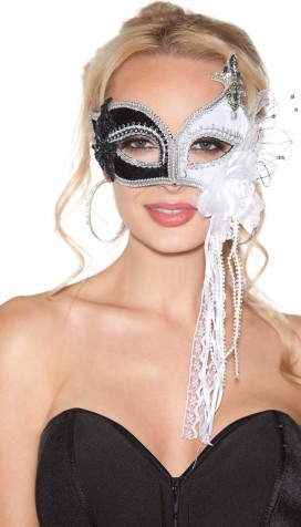 BLACK/WHITE HALF MASK