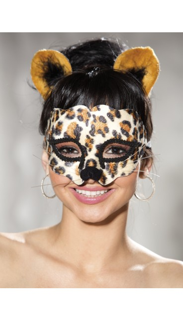 LEOPARD MASK AND EAR SET