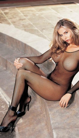 FISHNET BODYSTOCKING, OPEN FRONT
