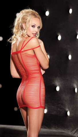 Short tight mini dress with threads