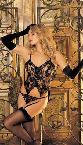 LOVELY LACE 3PC BUSTIER SET